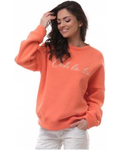 Bluza z nadrukiem z printem - pomarańczowa Ooh La La
