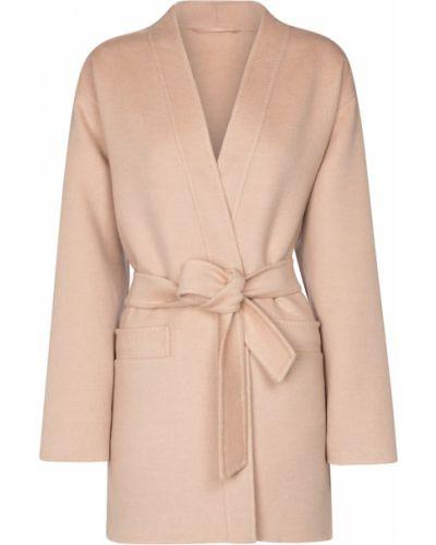 Różowy płaszcz wełniany Max Mara