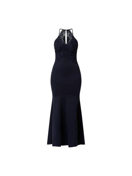 Niebieska sukienka wieczorowa Lipsy