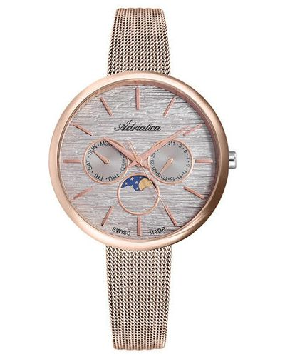 Różowy zegarek Adriatica