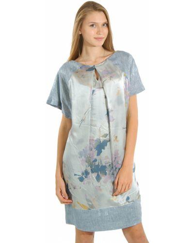 Платье шелковое из вискозы Cerruti 18crr81