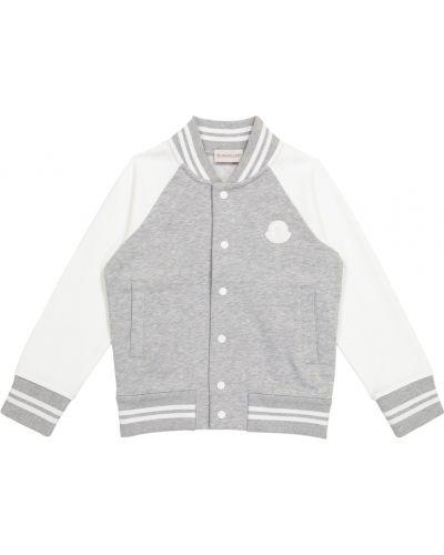 Biała kurtka bawełniana Moncler Enfant