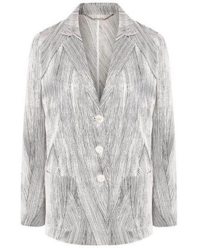 Белый шелковый пиджак с подкладкой Kiton