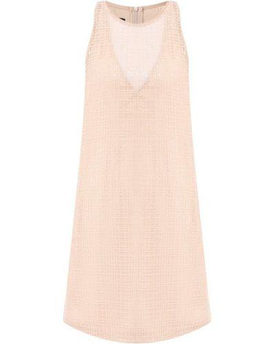 Платье мини с пайетками на торжество Emporio Armani