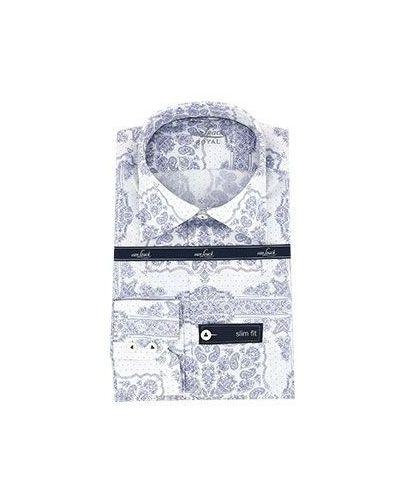 Городская хлопковая белая классическая рубашка Van Laack