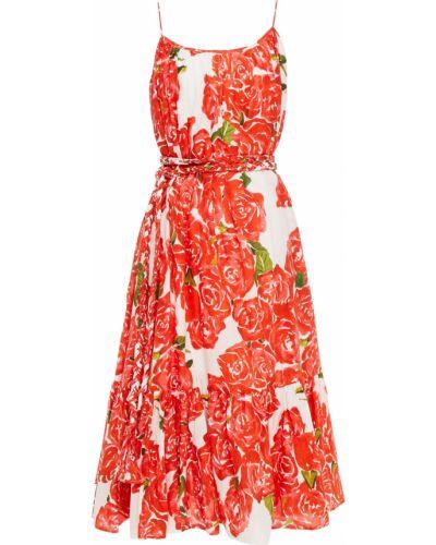 Sukienka midi bawełniana z printem Rhode