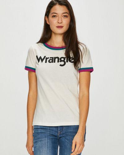 Футболка белая эластичный Wrangler