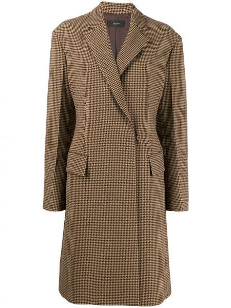 Шерстяное пальто - бежевое Joseph
