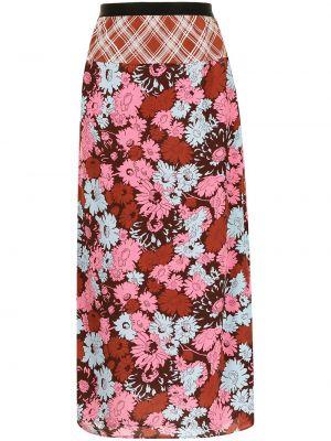 Розовая юбка в цветочный принт Paul Smith