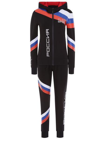 Спортивный костюм с капюшоном - черный Plein Sport