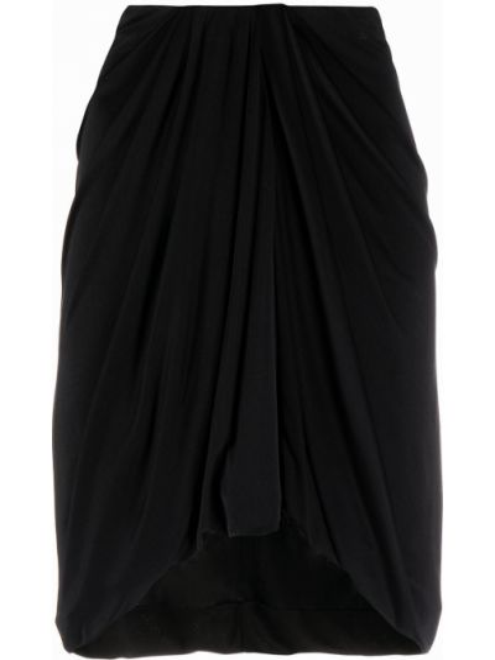 Асимметричная черная с завышенной талией юбка мини Isabel Marant