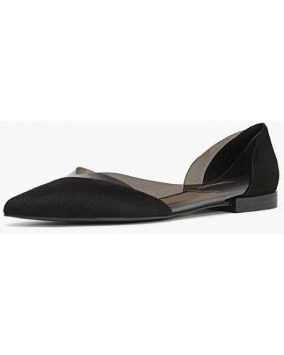 Черные балетки с острым носком Stradivarius