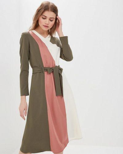 Прямое зеленое платье Adzhedo