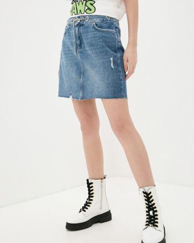 Синяя джинсовая юбка Q/s Designed By