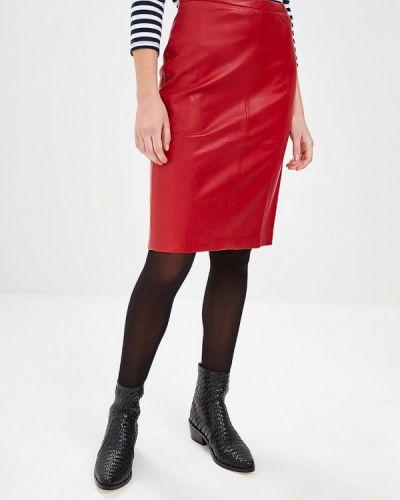 Кожаная юбка красный Art Love