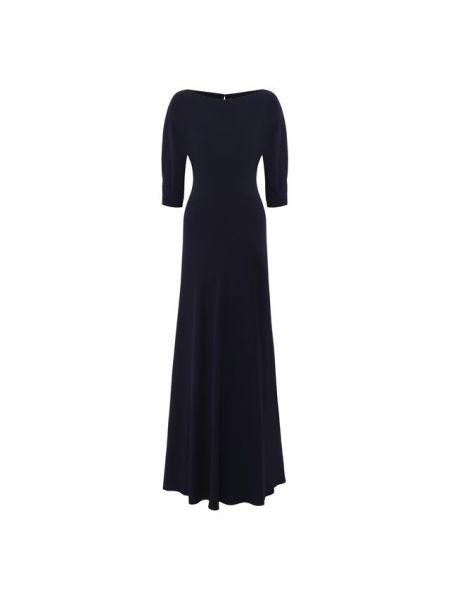 Вечернее платье в пол - синее Ralph Lauren