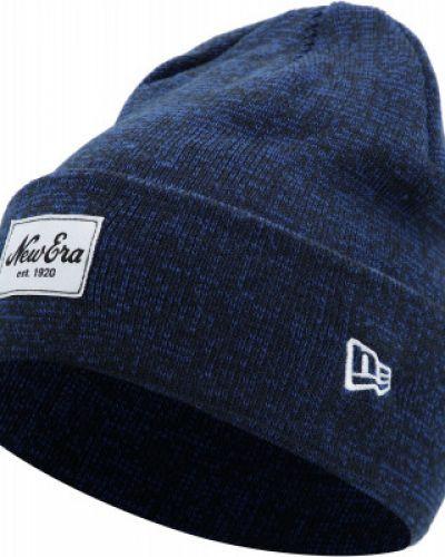 Синяя шапка с отворотом New Era