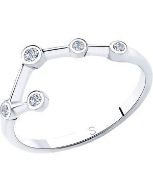Кольцо из серебра с декоративной отделкой Sklv