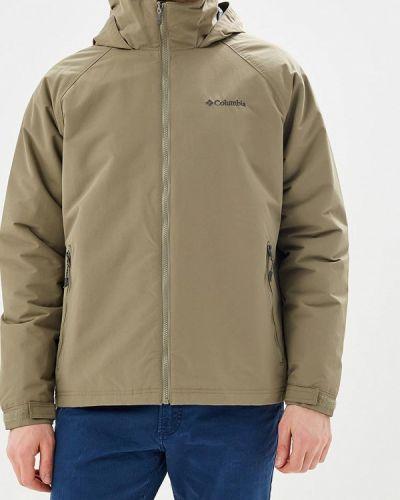 Бежевая утепленная куртка Columbia