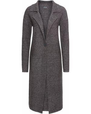 Пальто вязаное серое Bonprix