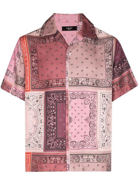Koszula jedwab z kołnierzem Amiri