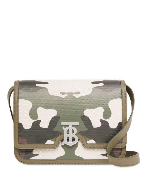Кожаная сумка - зеленая Burberry
