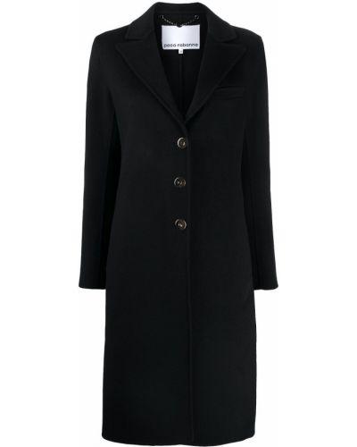 Приталенное шерстяное пальто с воротником на пуговицах Paco Rabanne
