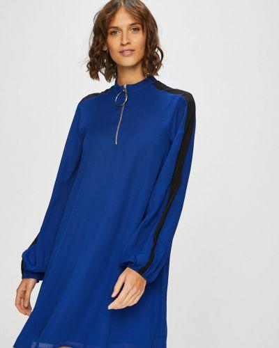 Платье мини свободного кроя синее Trendyol