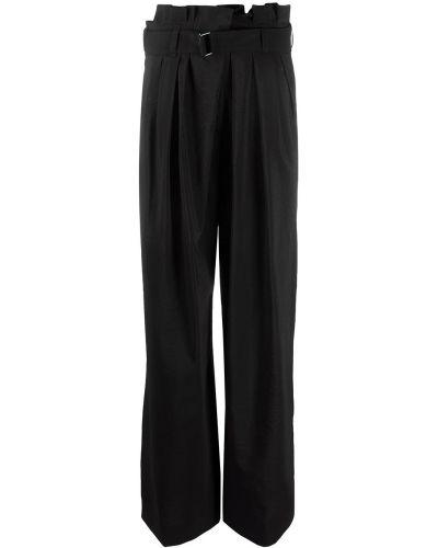 Шерстяные черные брюки свободного кроя Christian Wijnants