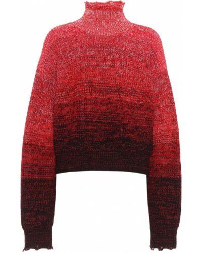 Grunge bawełna wełniany sweter przycięte Helmut Lang