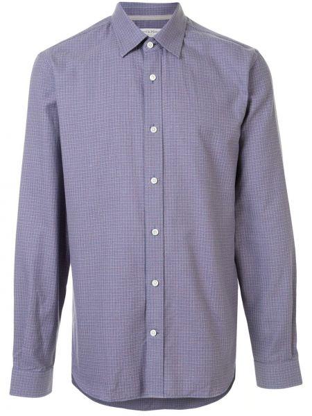 Fioletowa koszula bawełniana z długimi rękawami Gieves & Hawkes