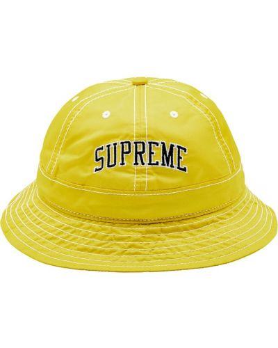 Bezpłatne cięcie żółty szeroki kapelusz z łatami bezpłatne cięcie Supreme