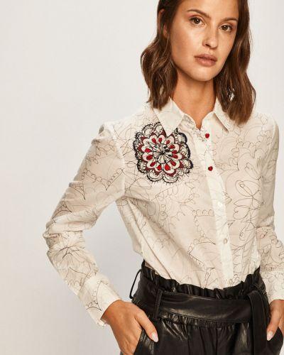 Блузка с длинным рукавом с вышивкой белая Desigual