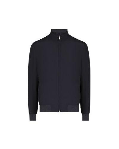 Хлопковая синяя куртка Enrico Mandelli