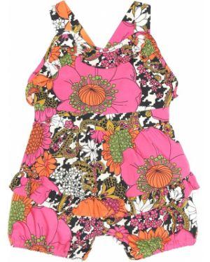Летнее платье с цветочным принтом Gucci Kids