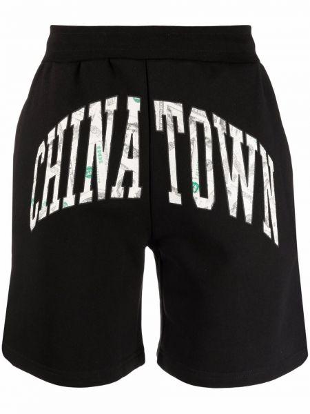 Czarne szorty bawełniane Chinatown Market