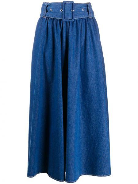Юбка миди джинсовая с завышенной талией Msgm