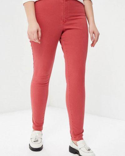 Красные зауженные брюки Violeta By Mango