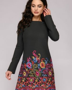 Повседневное платье теплое платье-сарафан 1001 Dress