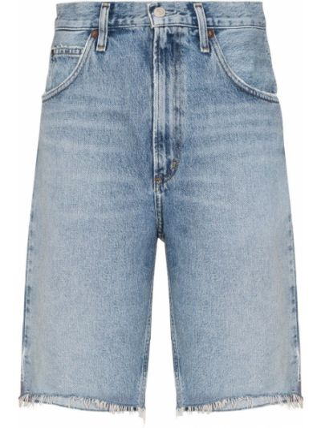 Bawełna niebieski bawełna jeansy Agolde