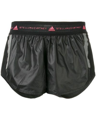 Спортивные шорты с заниженной талией черные Adidas By Stella Mccartney