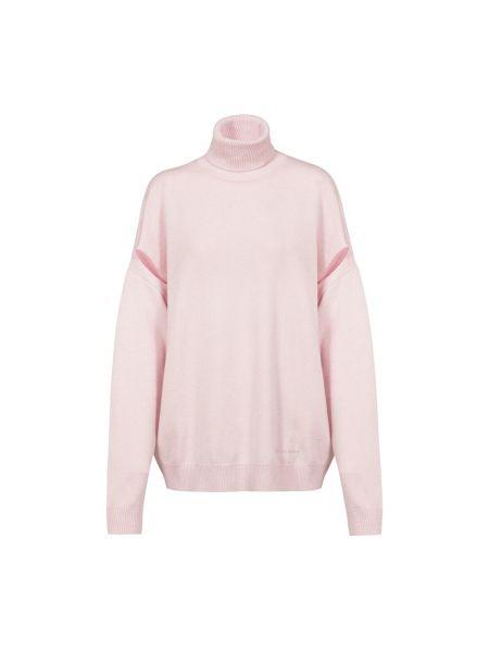 Różowy sweter z haftem Givenchy