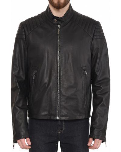 Кожаная куртка - черная Moreschi