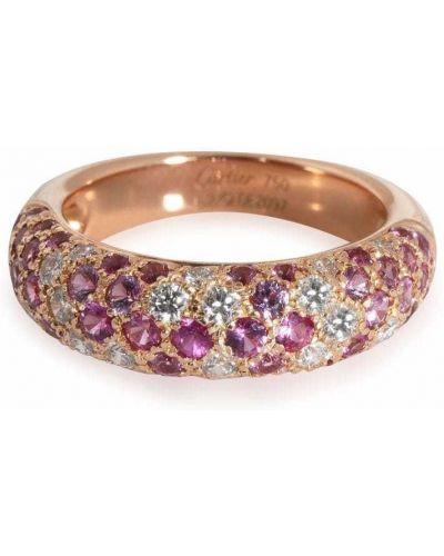 Кольцо с бриллиантом - розовое Cartier