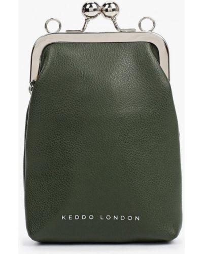Кожаная сумка через плечо - хаки Keddo