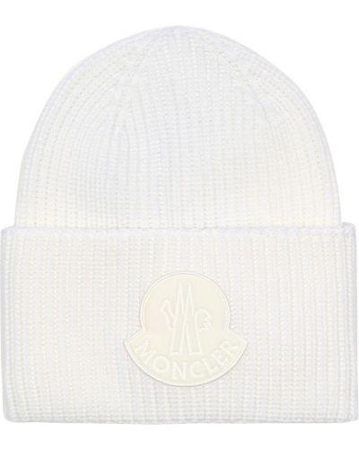 Czapka zimowa wełniany biały Moncler
