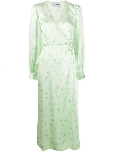 Платье мини с запахом макси Ganni