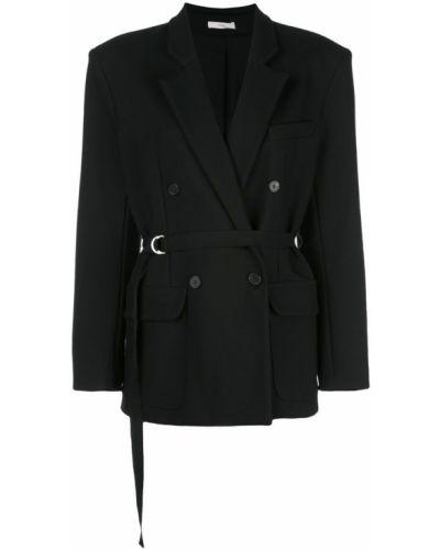 Черный удлиненный пиджак Tome