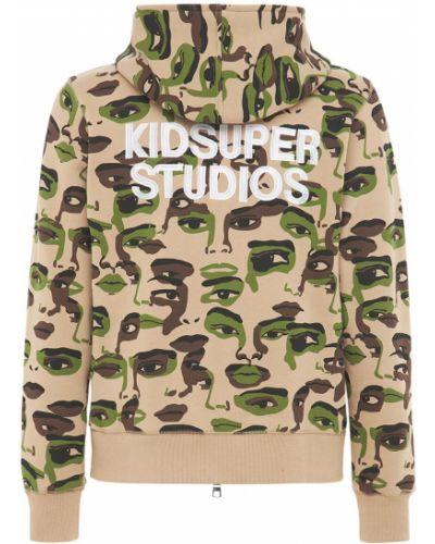 Beżowa bluza bawełniana z printem Kidsuper Studios
