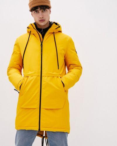 Утепленная желтая короткая куртка Qwentiny